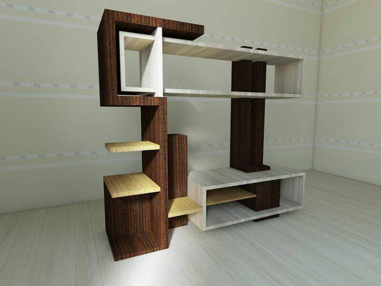 Abstract Minimalist Design for TV Rack